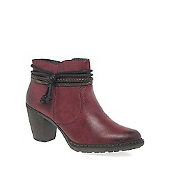 Rieker - Wine 'Rope' womens casual ankle boots