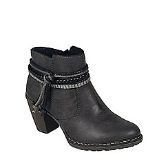 Rieker - Dark grey 'Rope' womens casual ankle boots