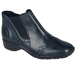 Rieker - Navy 'Spell' womens casual ankle boots