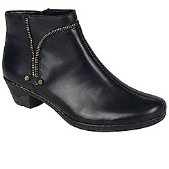 Rieker - Black 'Rachel' womens casual ankle boots