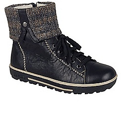 Rieker - Black 'Finer' Womens Casual Ankle Boots