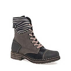 Rieker - Grey 'Zebra' Womens Casual Boots