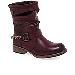 Rieker - Wine 'Stadium' Womens Boots