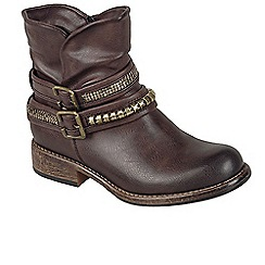 Rieker - Brown 'Harrow' womens casual ankle boots