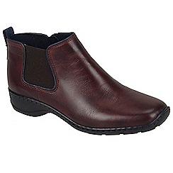 Rieker - Maroon 'Splint' womens casual boots
