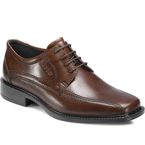 Ecco - Dark brown +hudson+ leather lace up shoes