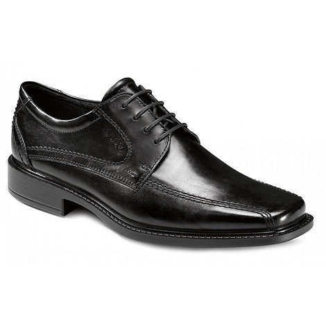 Ecco - Black Hudson Leather Lace Up Shoes