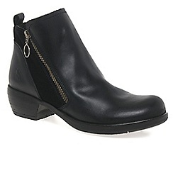 Fly London - Black 'Meli' womens casual ankle boots