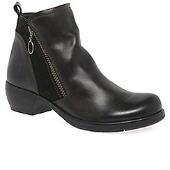 Fly London - Dark brown 'Meli' womens casual ankle boots