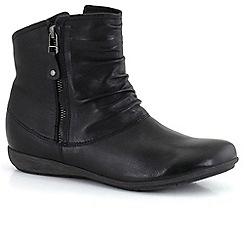 Josef Seibel - Black 'Faye 05' ruche womens casual boots