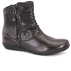 Josef Seibel - Dark brown 'Faye 05' ruche womens casual boots