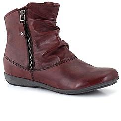 Josef Seibel - Wine 'Faye 05' ruche womens casual boots