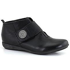 Josef Seibel - Black 'Faye 06' womens velcro boots