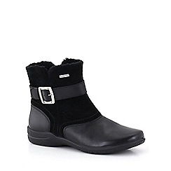 Josef Seibel - Black 'Fabienne 15 Buckle' Womens Casual Boots