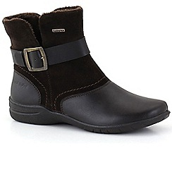 Josef Seibel - Dark brown 'Fabienne 15 Buckle' Womens Casual Boots