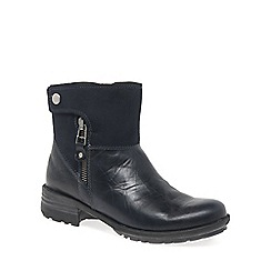 Josef Seibel - Navy 'sandra 24 zip' womens casual boots