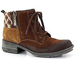 Josef Seibel - Brown 'sandra 28' wool womens casual boots
