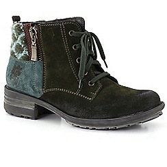 Josef Seibel - Green 'sandra 28' wool womens casual boots