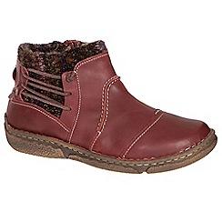 Josef Seibel - Red 'neele 06 wool' womens casual boots
