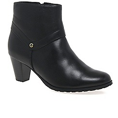Van Dal - Black 'Manning' womens black leather ankle boots
