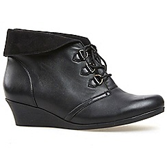 Van Dal - Black 'Wylie' womens wedge ankle boots