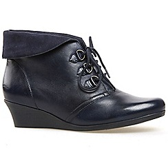 Van Dal - Navy 'Wylie' womens wedge ankle boots