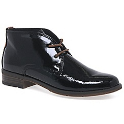 Marco Tozzi - Black 'Maleficent' womens ankle boots