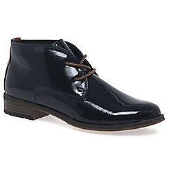 Marco Tozzi - Navy 'Maleficent' womens ankle boots