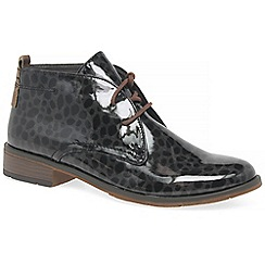 Marco Tozzi - Dark grey 'Maleficent' flat lace up boots