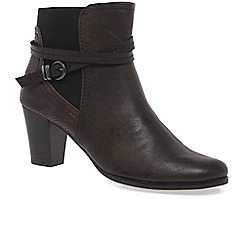 Marco Tozzi - Brown Eeema' womens ankle boots