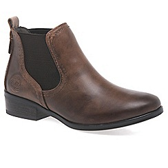 Marco Tozzi - Brown 'Jessica' womens chelsea ankle boots