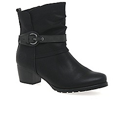 Marco Tozzi - Black 'Flora' womens casual ankle boots