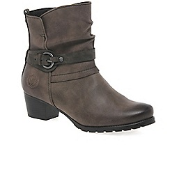 Marco Tozzi - Brown 'Flora' womens casual ankle boots