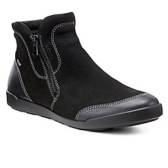Ecco - Black 'Crispin' zip fastening womens ankle boots