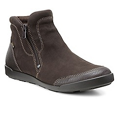 Ecco - Dark brown 'Crispin' zip fastening womens ankle boots