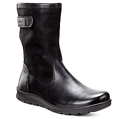 Ecco - Black 'Basett buckle' womens calf length boots