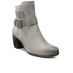 Ecco - Grey 'Touch 55' womens strap and buckle boots
