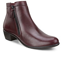 Ecco - Maroon 'Touch 35' womens ankle boots