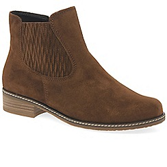 Gabor - Brown suede 'Pescara' womens modern ankle boots