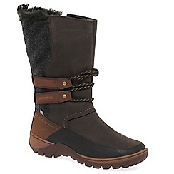 Merrell - Brown 'Sylva Tall' womens waterproof  boots