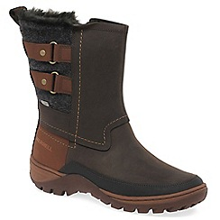 Merrell - Brown 'Sylva Mid Buckle' womens waterproof boots