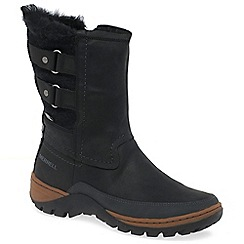 Merrell - Black 'Sylva Mid Buckle' womens black waterproof boots