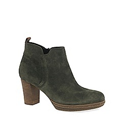 Gabor - Khaki 'Tournament' Womens Modern Ankle Boots