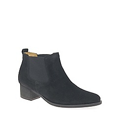 Gabor - Black 'Confidential' Womens Modern Slip On Ankle Boots