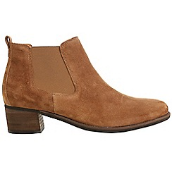 Gabor - Brown 'Confidential' Womens Modern Slip On Ankle Boots
