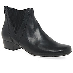 Gabor - Black 'Betide' womens modern wide fit ankle boots