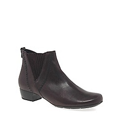 Gabor - Maroon 'Betide' womens modern wide fit ankle boots