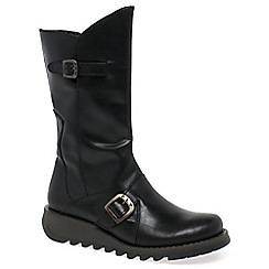 Fly London - Black 'Mes 2' womens calf length boots