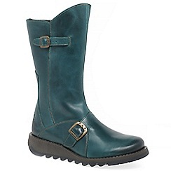 Fly London - Green leather 'Mes 2' boots
