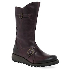 Fly London - Purple 'Mes 2' womens calf length boots